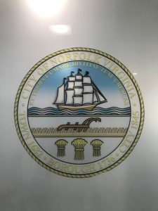frosted film chesapeake, frosted window film, norfolk city hall building
