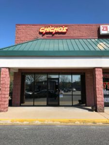 commercial window tinting, chichos pizza hickory