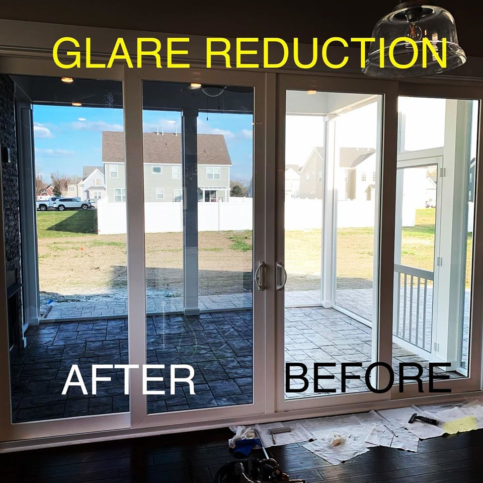 glare reduction film, reduce glare, home window tinting